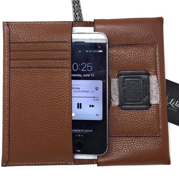 best service a36d4 f7466 COACH PEPSI MENS Universal Phone Case Long Wallet Boutique